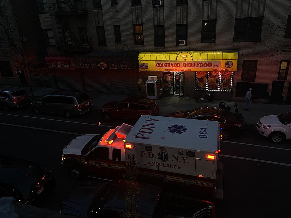 Una ambulancia en la calle