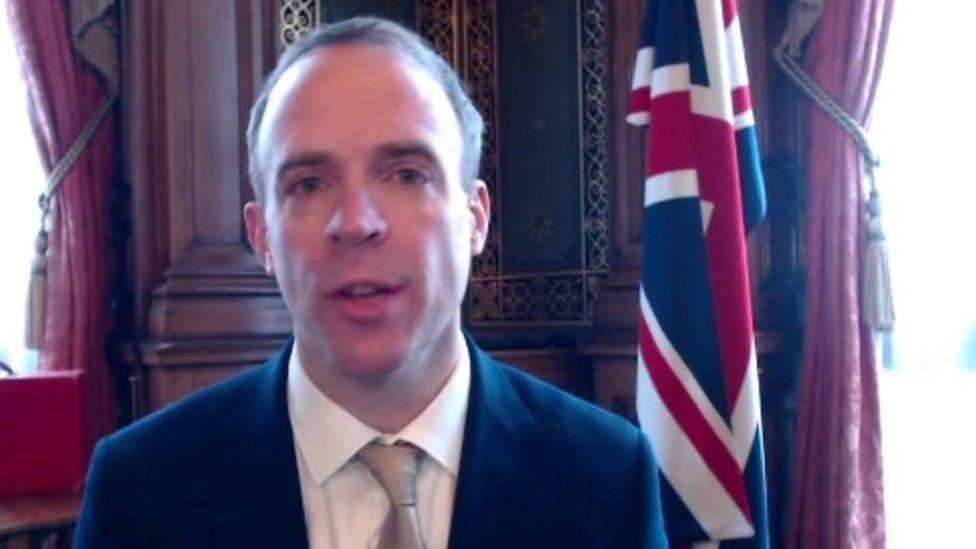 وزير الخارجية راب