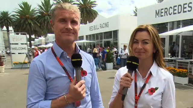 Suzi Perry and avid Coulthard