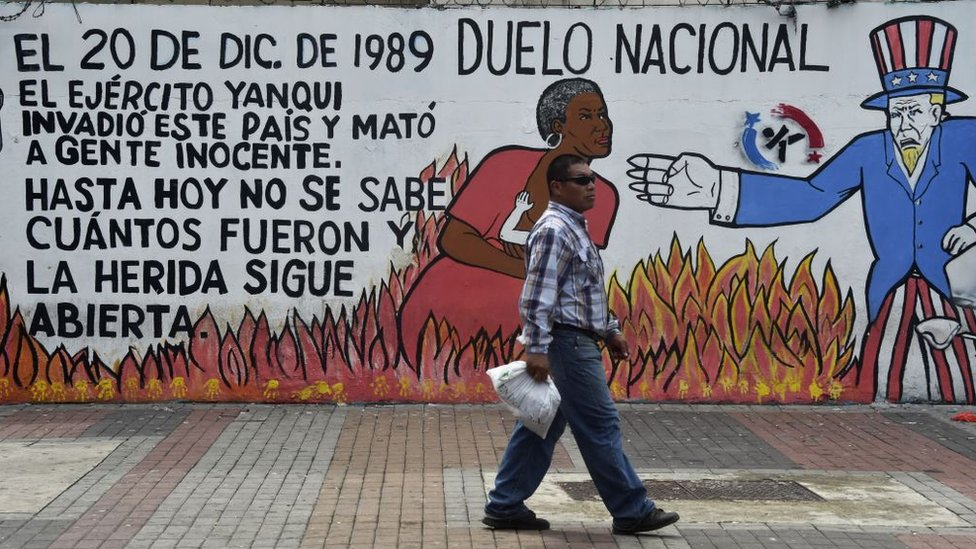 Grafiti sobre invasión, 2017