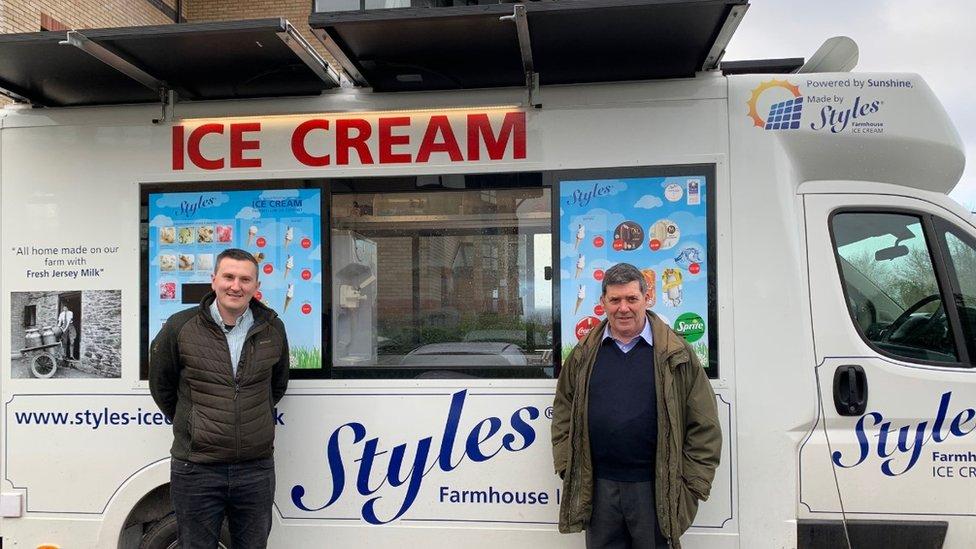 Стили фургона с мороженым