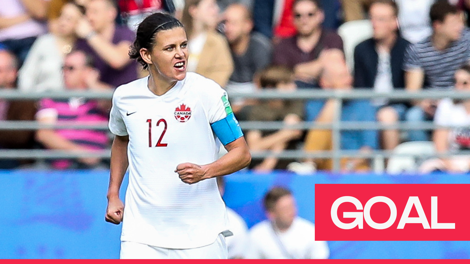 Women's World Cup 2019: Sinclair thunders in a goal at the back post to level the score for Canada