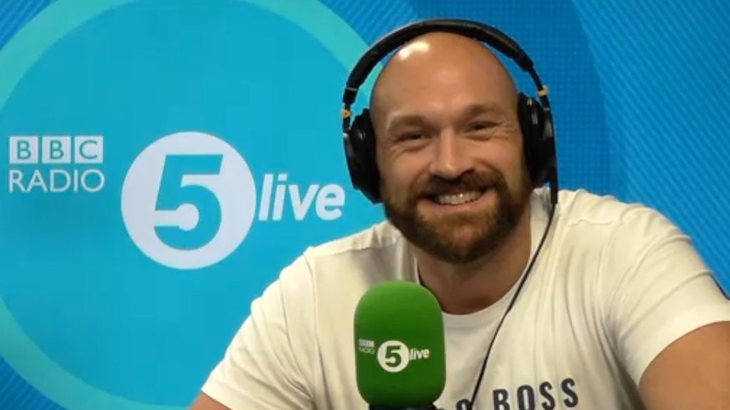 BBC News - Tyson Fury: 'Song with Robbie will be Christmas hit'