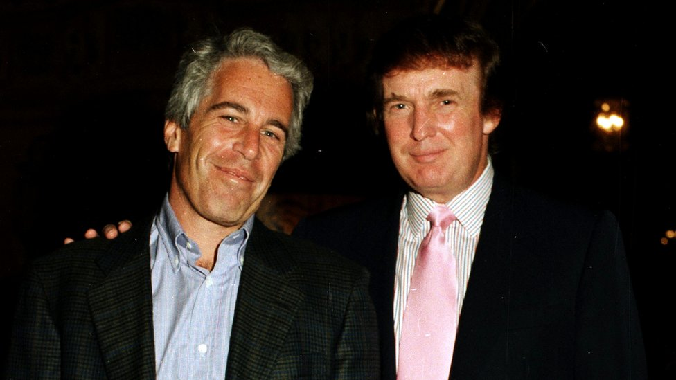 Jeffrey Epstein y Donald Trump