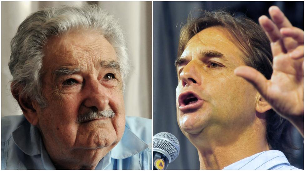 Pepe Mujica y Lacalle Pou