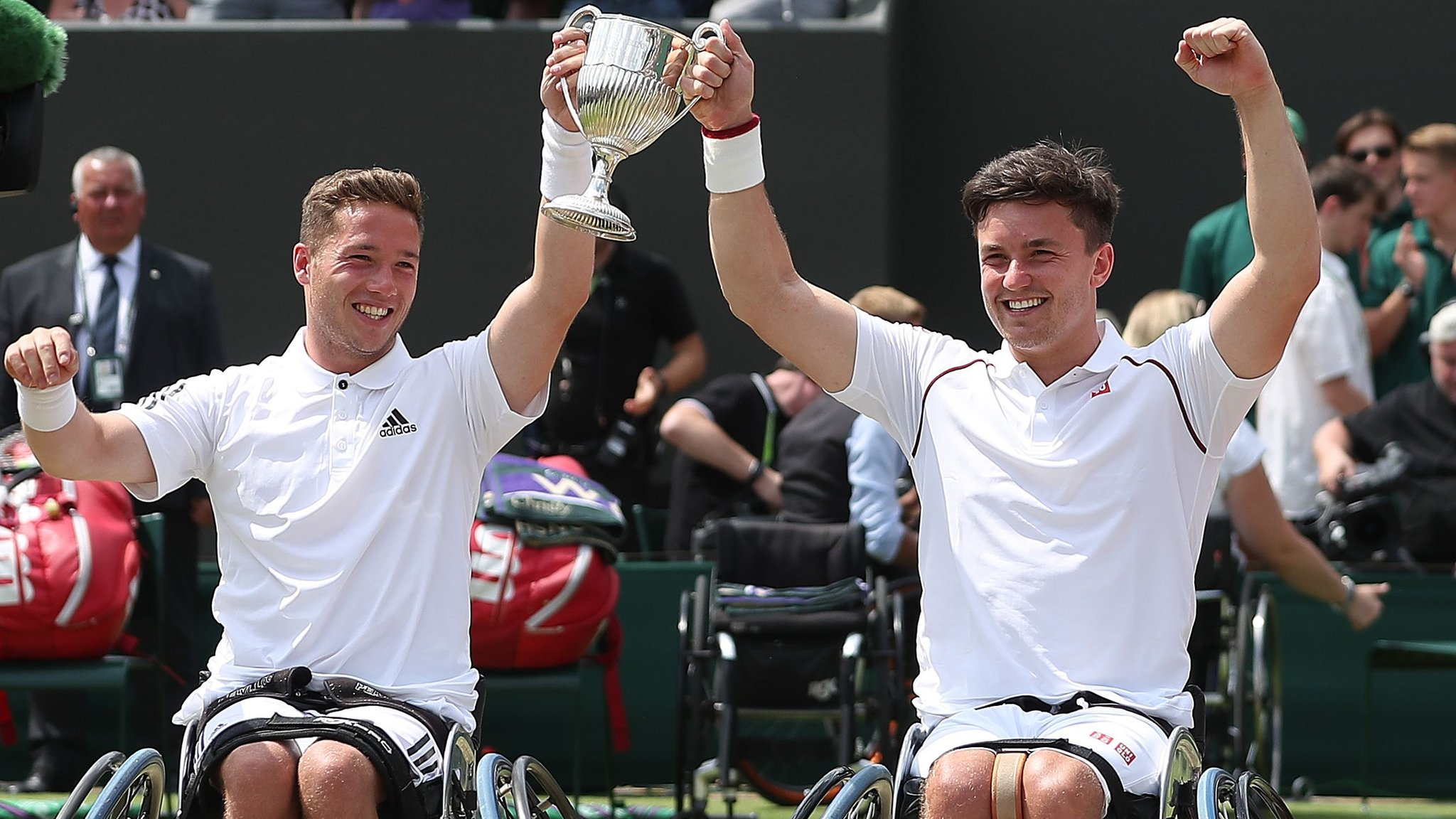 Wimbledon 2018: GB's Gordon Reid and Alfie Hewett win wheelchair doubles title