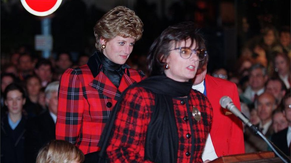 Princess Diana and Rosa Monckton