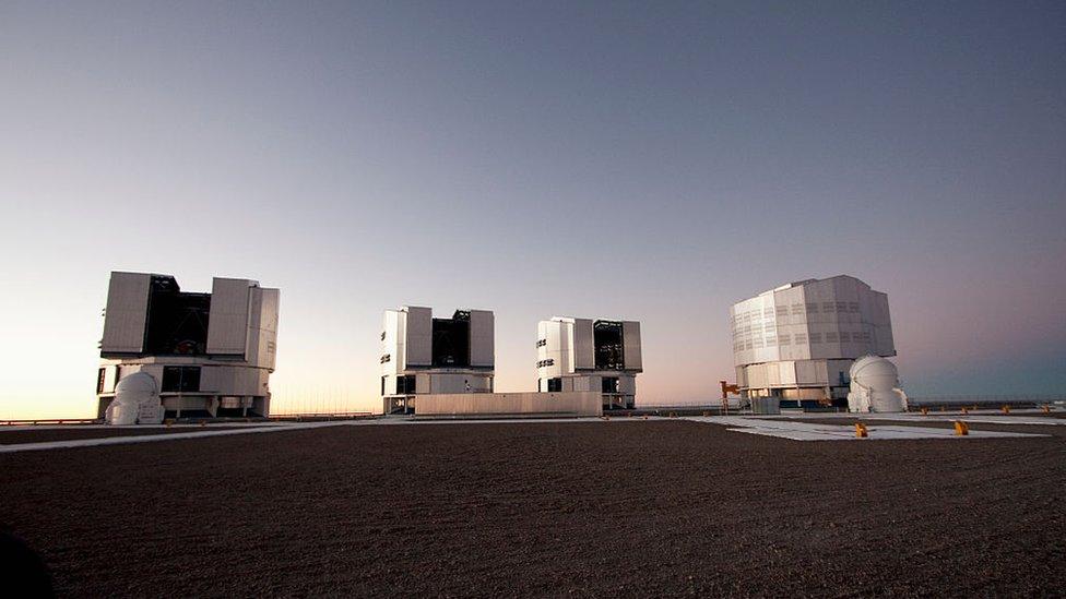 El VLT del Observatorio Europeo Austral, en el desierto de Atacama
