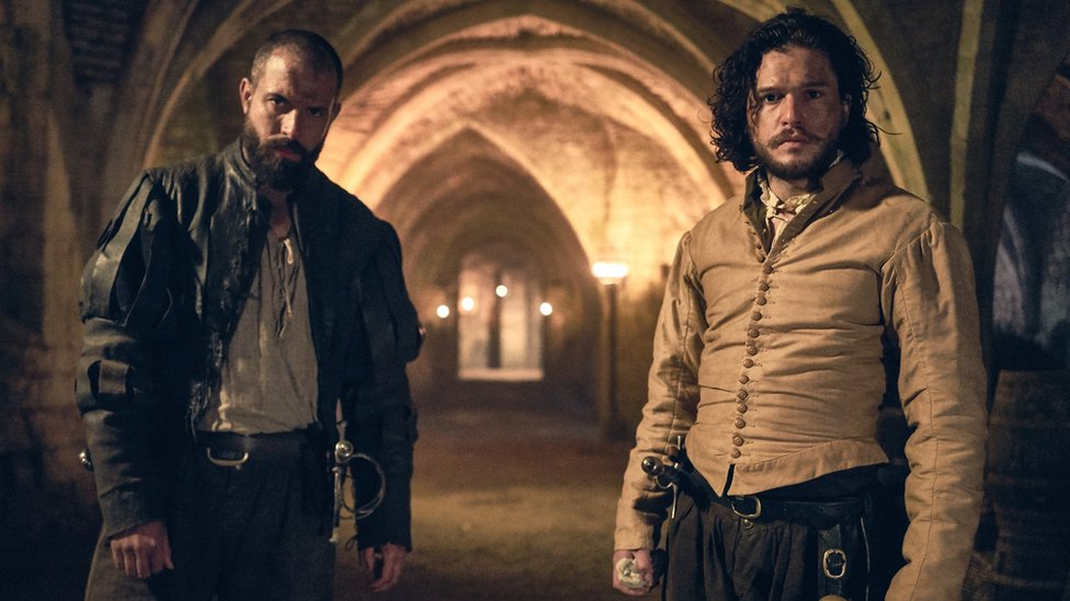 Tom Cullen and Kit Harington in Gunpowder