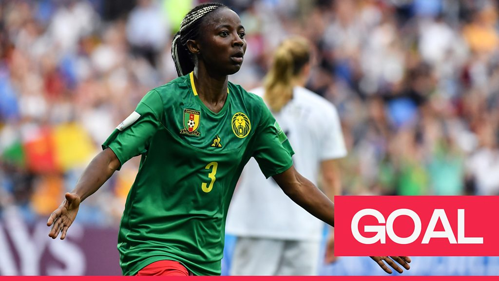 Women's World Cup 2019: Ajara Nchout spins two defenders and slots the ball home to give Cameroon the lead