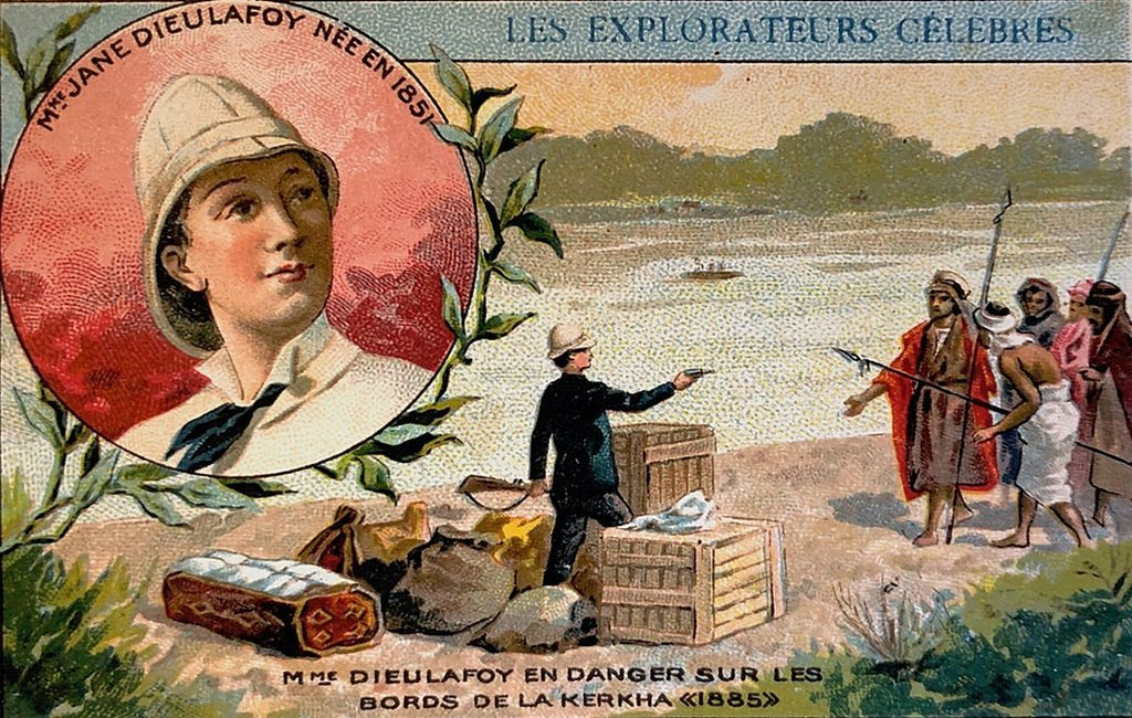 Ilustración de escena de valor de Jane Dieulafoy