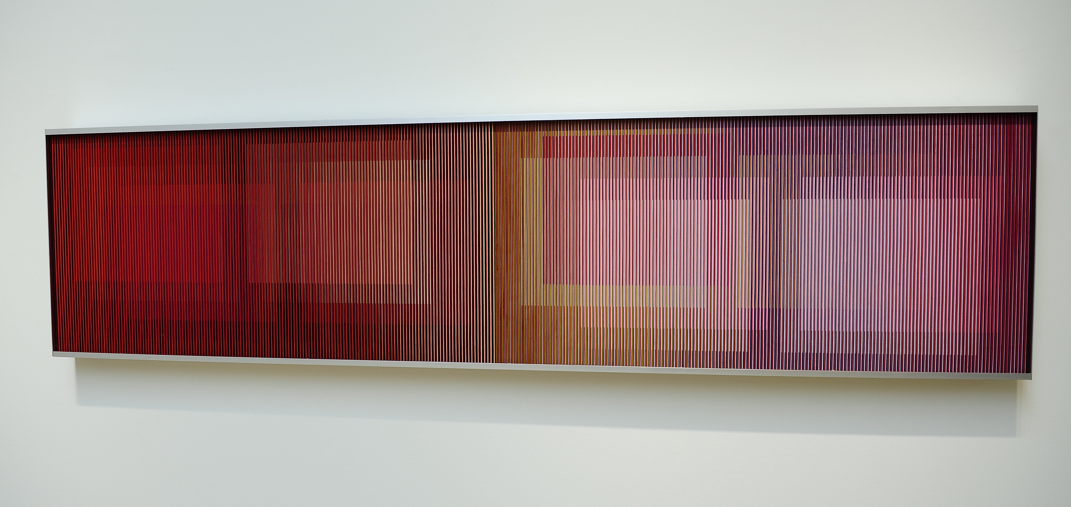 """""""Physichromie No 321-A"""" by Carlos Cruz-Diez is on display during a preview of Sotheby's Latin American Art auctions, May 21, 2010 in New York."""