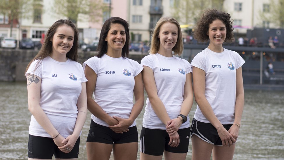 The four Bristol women, known as the Bristol Gulls, who will be crossing the Atlantic in 2020 as part of the Talisker Whisky Atlantic Challenge