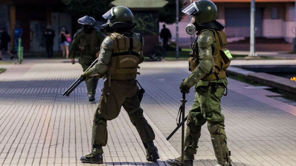 Los militares salieron a las calles de Chile durante las masivas protestas del pasado otoño.