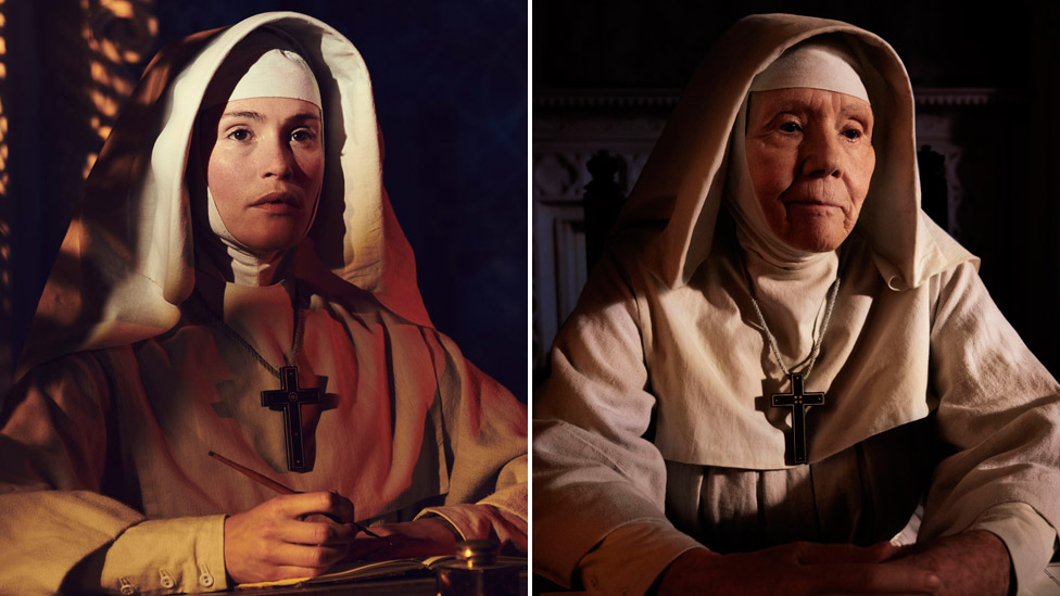 Gemma Arterton (left) and Dame Diana Rigg in Black Narcissus