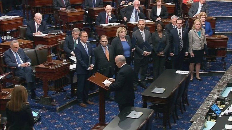 El salón del Senado