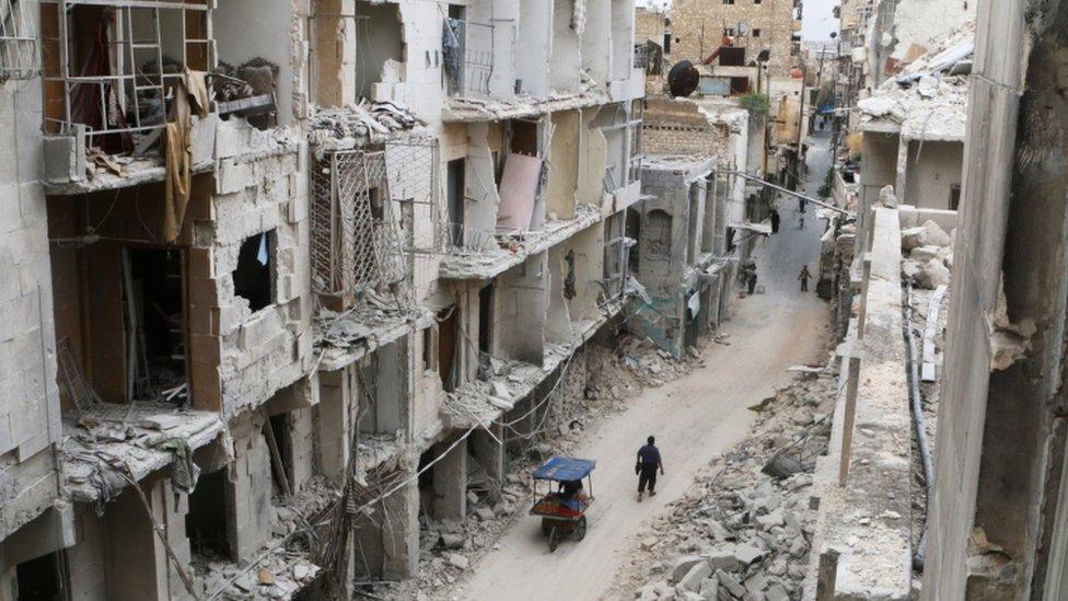 Aleppo ruins, 5 May