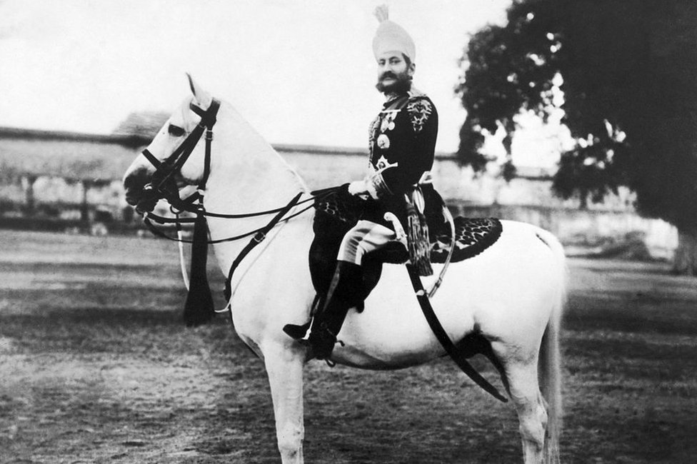 Mir Mahboob Ali Khan, 6th Nizam of Hyderabad, circa 1890-1911.