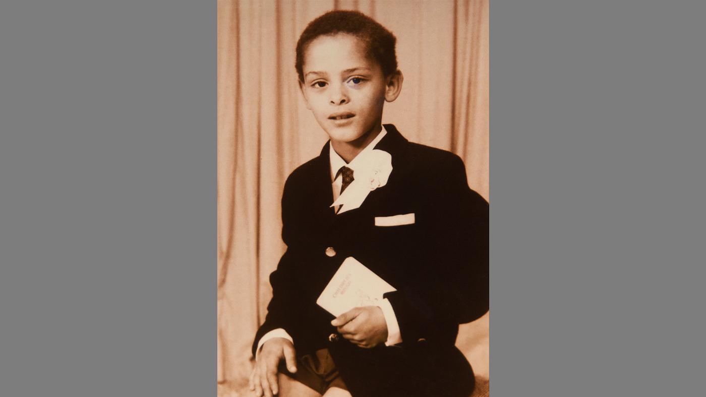 Conrad Bryan as a boy