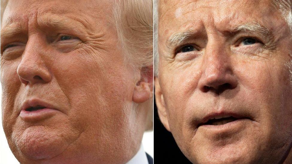 Biden y Trump.