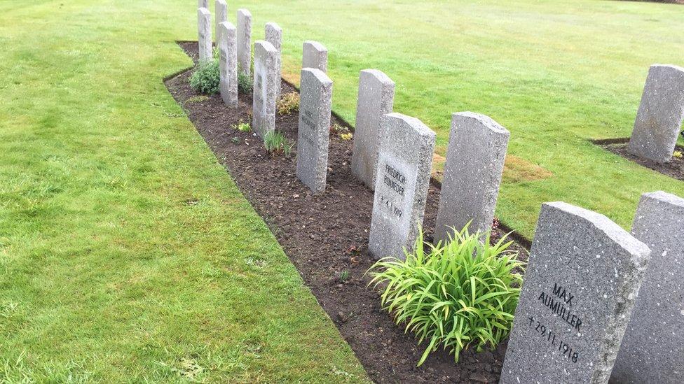 Group of German war graves