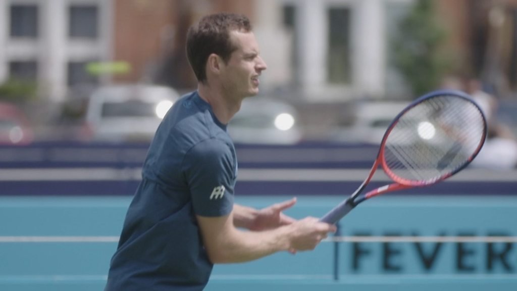 Andy Murray practises before return at Queen's Club