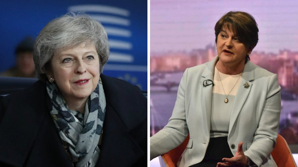 Brexit: Arlene Foster questions whether PM will 'roll over' to the EU