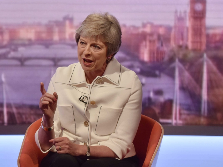 Primera ministra británica Theresa May