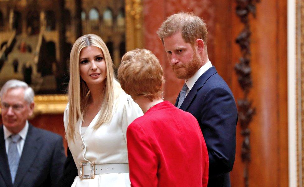 Prince Harry and Ivanka Trump