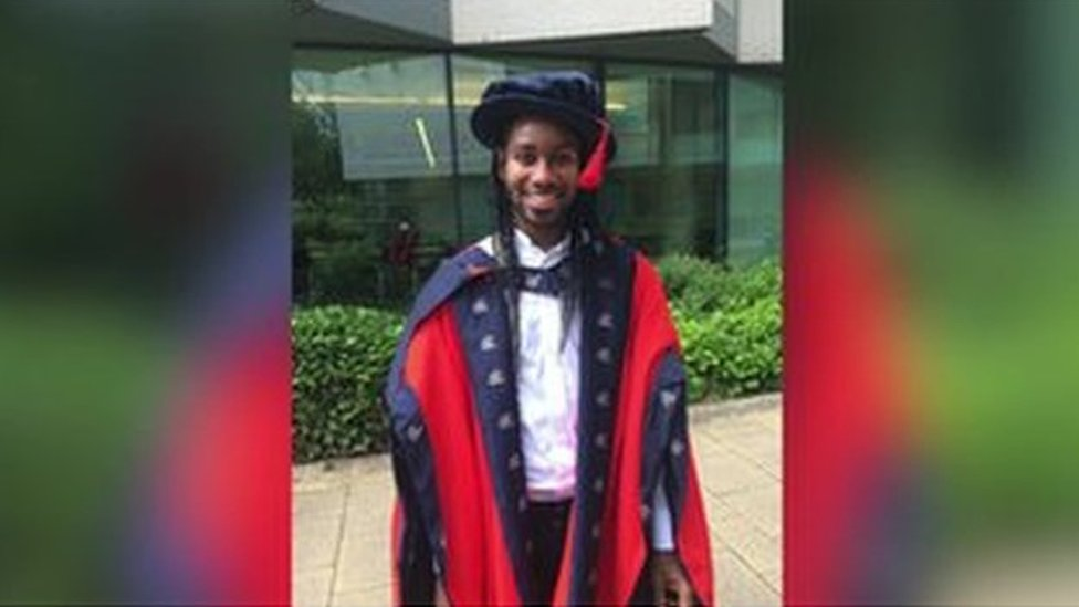Photograph of Dr Arday graduating