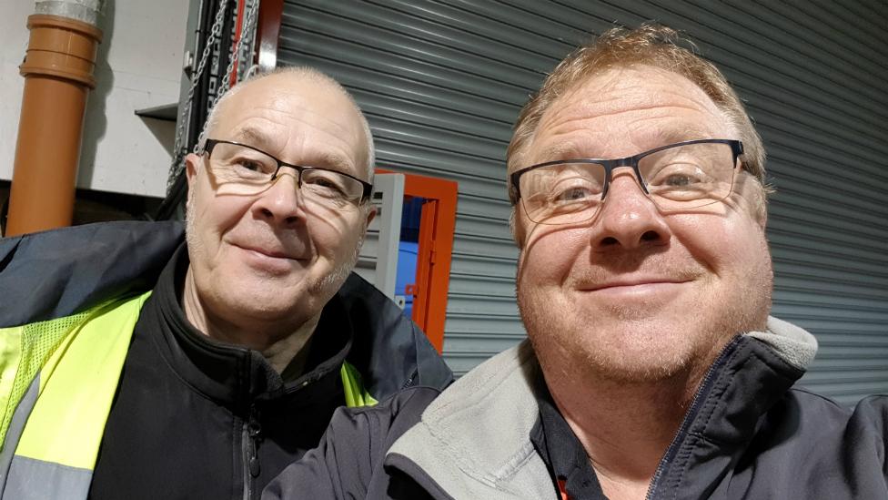 Paul Adams and Andy Sampson