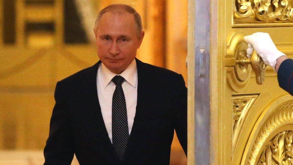 الرئيس فلاديمير بوتين، في الكرملين، عام 2019