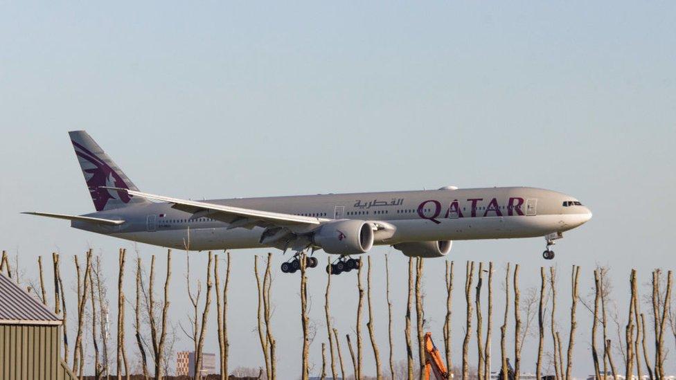 طائرة الخطوط الجوية القطرية