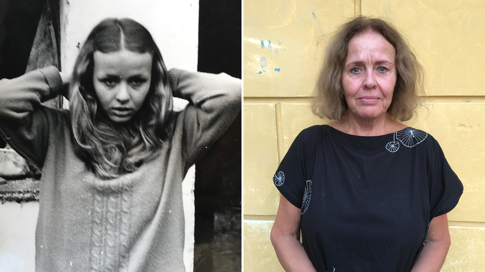 Ivana Dolezalova in 1968 and today
