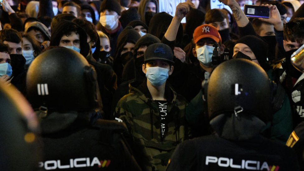 İspanya'da eylemler