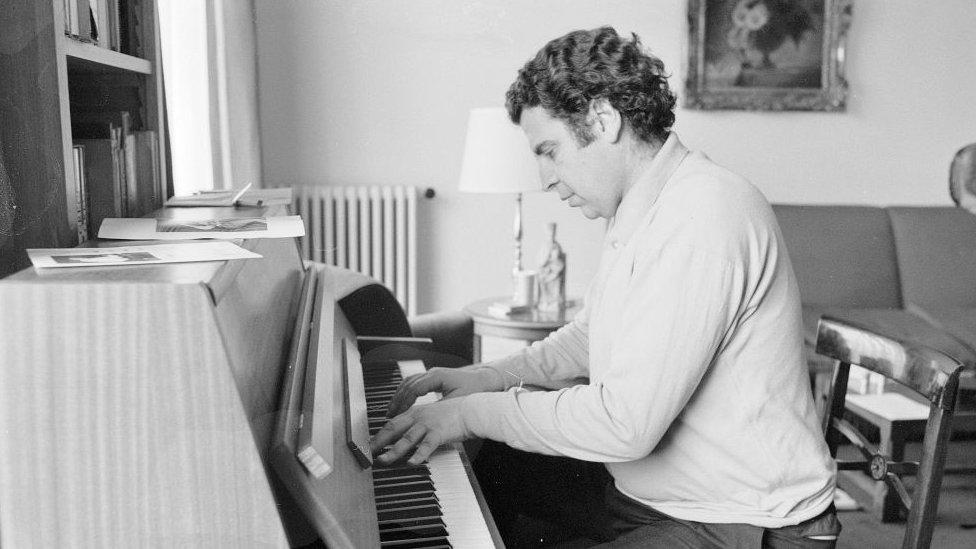 El compositor griego en 1968.