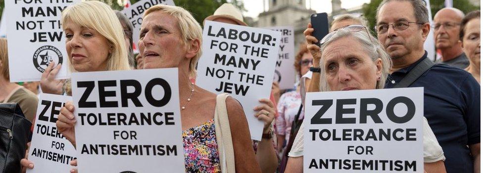Protest against anti-Semitism in Labour