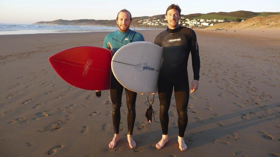 Marcus Chapman (left) with his friend Nelson Pratt