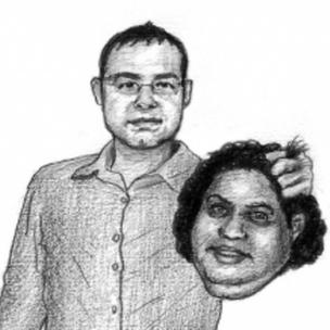 Ilustración amenazante enviada a Aronovich.
