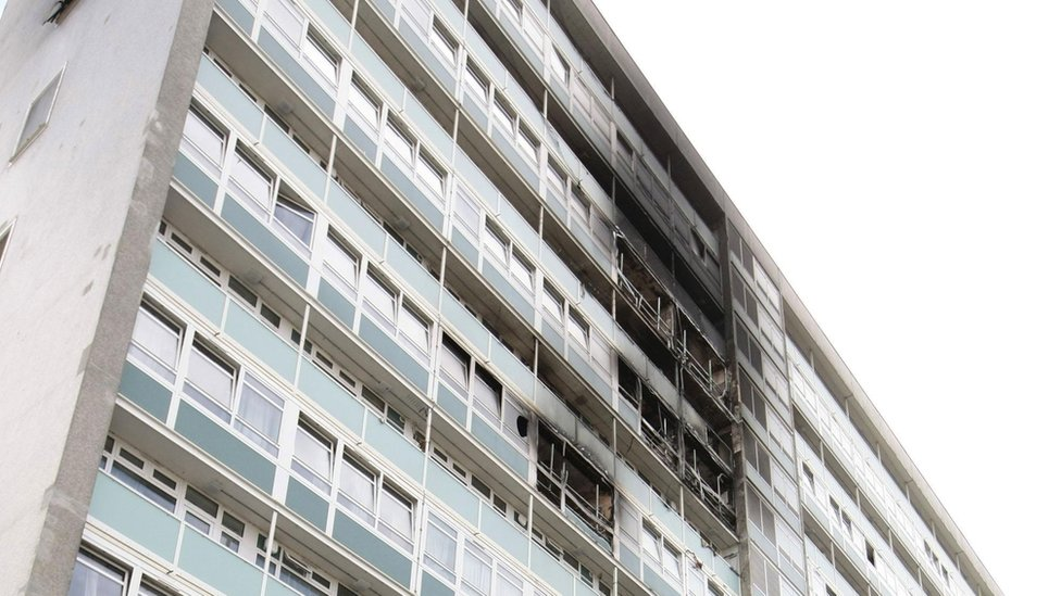 Fire at Lakanal House in Camberwell