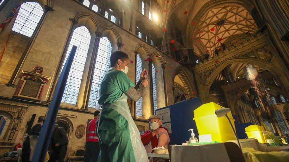 Vaccinations at Salisbury Cathedral