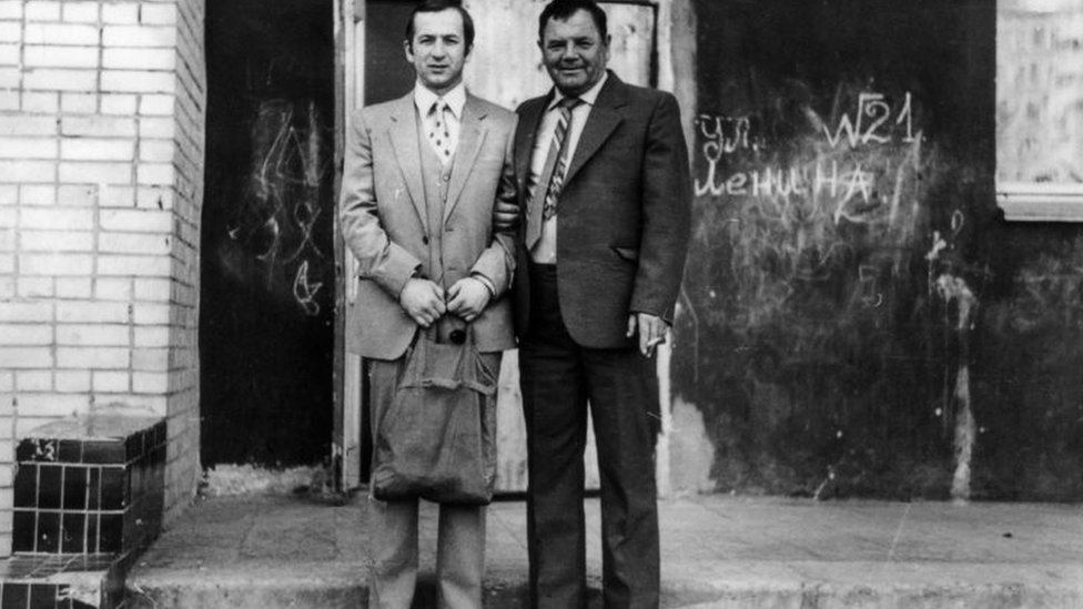 Skripal with his father
