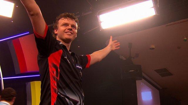 Dutch darts player Richard Veenstra