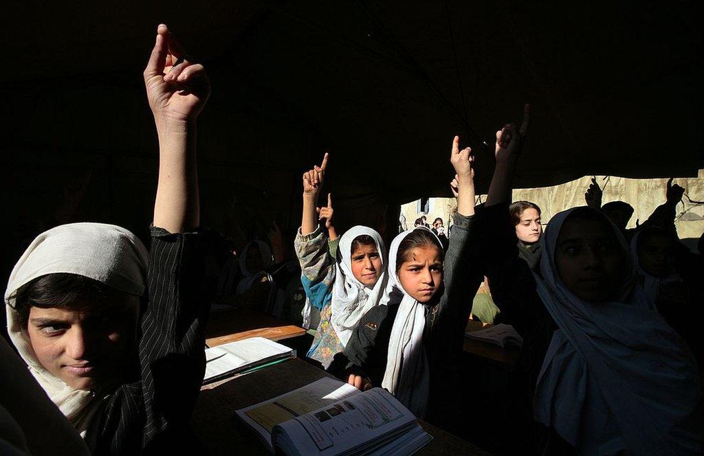 Escuela en Afganistán, 2006.