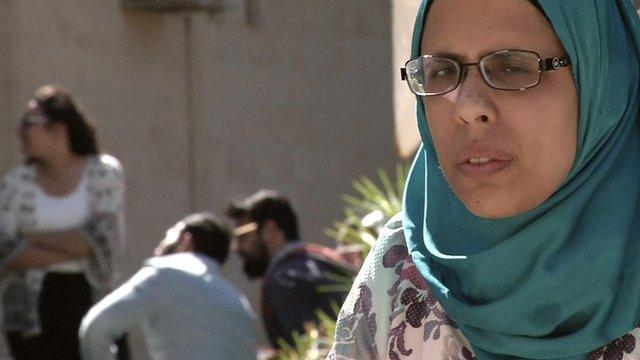 Dalia Sabry, a nearly blind music instructor from Jordan.