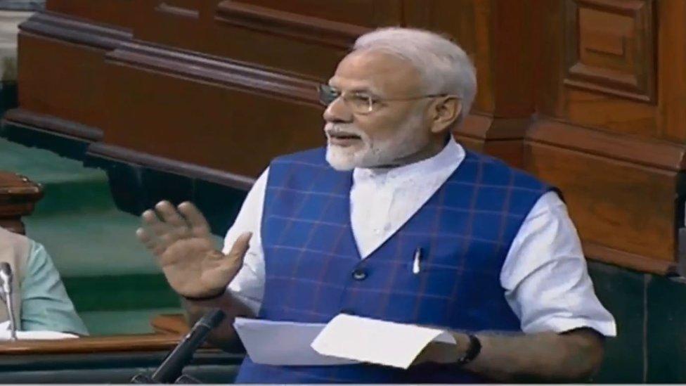 मोदी ने मुसलमानों पर कांग्रेस के किस मंत्री की विवादित टिप्पणी का किया ज़िक्र