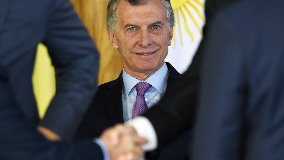 Macri eb Brasilia.