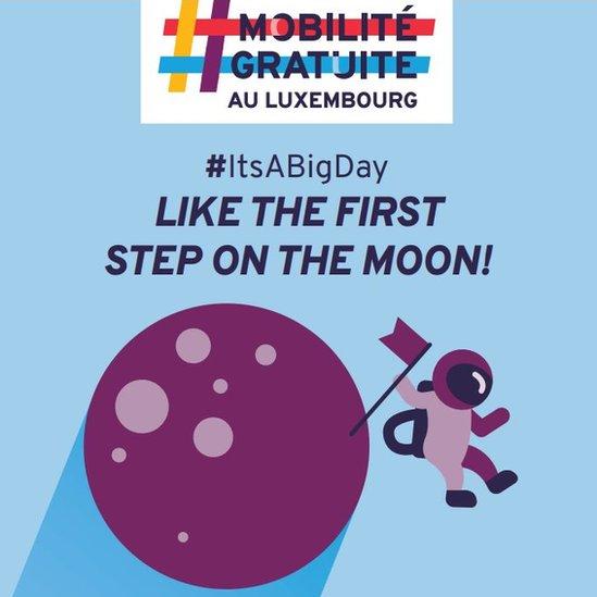 Jedan plakat iz kampanje poredi ove promene sa prvim koracima na Mesecu