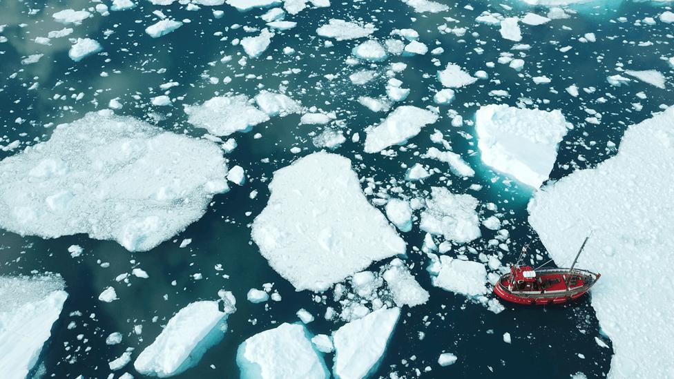 Led koji se topi na Grenlandu