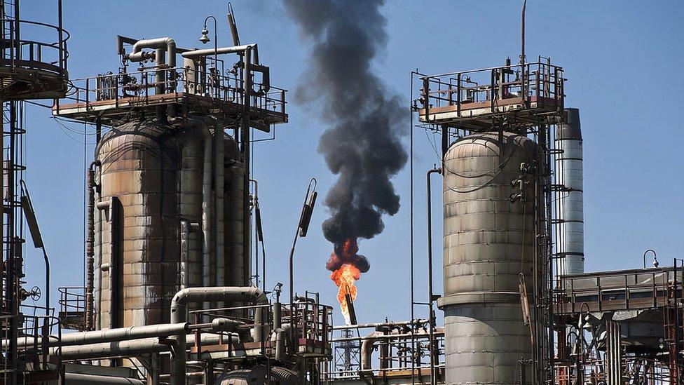 Instalación petrolera, Pemex, México